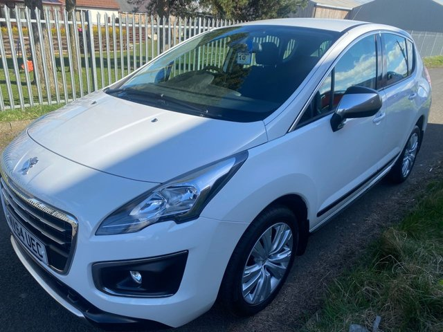 USED 2014 M PEUGEOT 3008 1.6 HDI ACTIVE WHITE 34000 MILES FSH STUNNING EXAMPLE