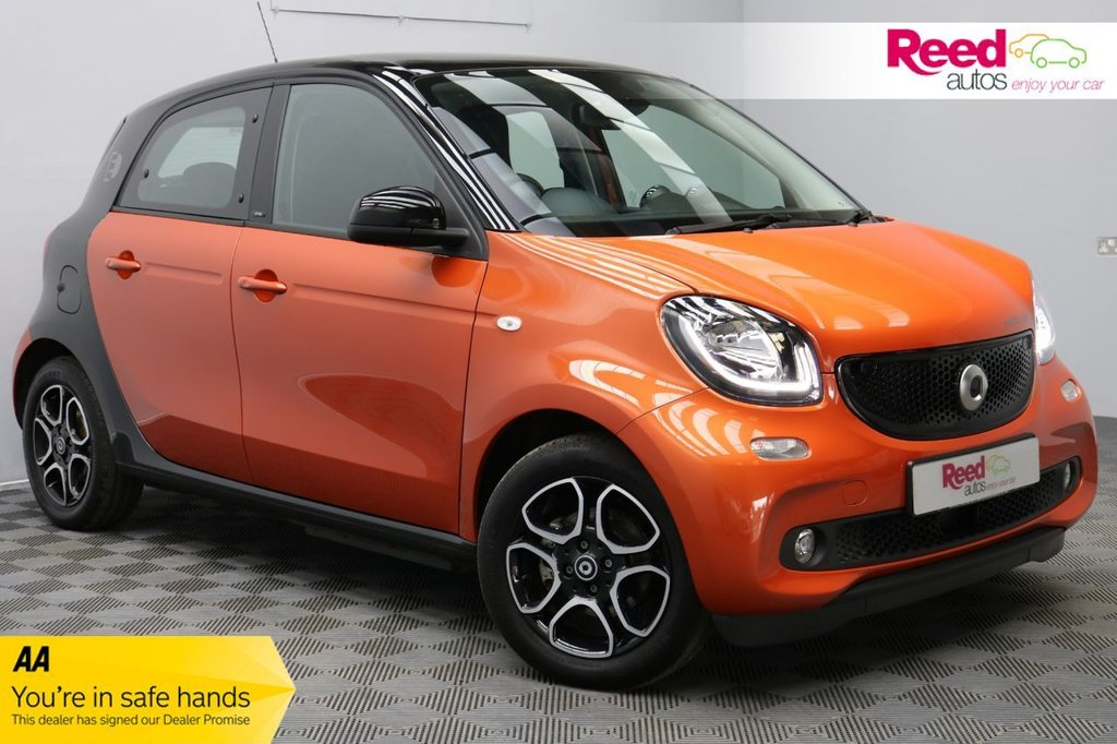 USED 2018 18 SMART FORFOUR 0.0 ELECTRIC DRIVE PRIME PREMIUM PLUS 5d 81 BHP FULL MAIN DEALER SERVICE HISTORY+LOW MILEAGE+1 OWNER+PANORAMIC ROOF+HEATED LEATHER SEAT UPHOLSTERY+PARKING CAMERAS+SAT NAV