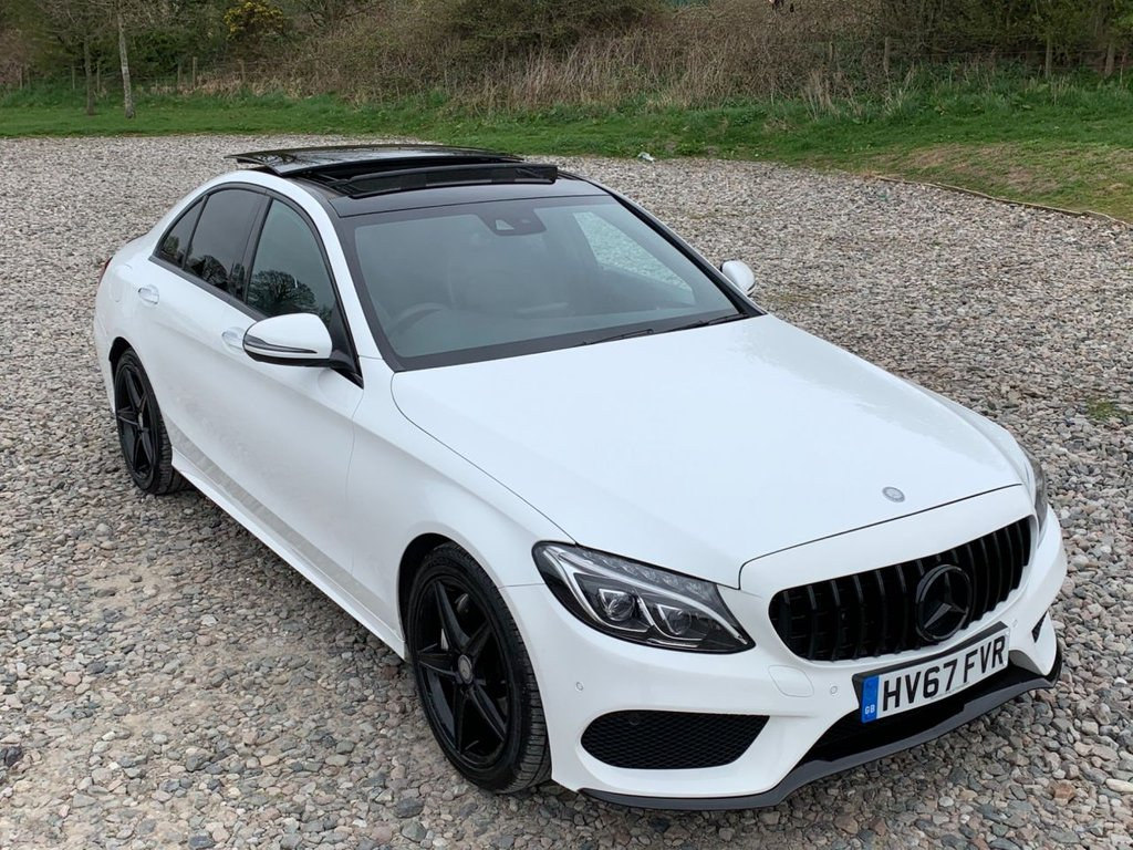 USED 2017 67 MERCEDES-BENZ C-CLASS 2.1 C 250 D AMG LINE PREMIUM 4d 204 BHP Free Next  Day Nationwide  Delivery