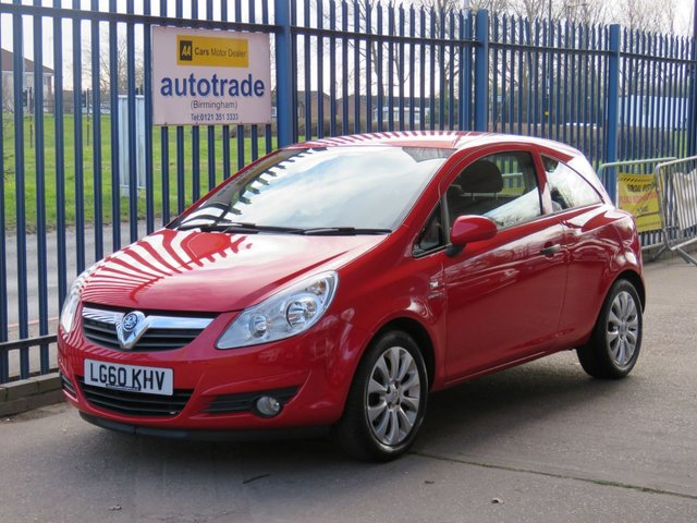 USED 2010 60 VAUXHALL CORSA 1.2 ENERGY 3d 83 BHP Air Conditioning,Alloy Wheels,CD Player,History