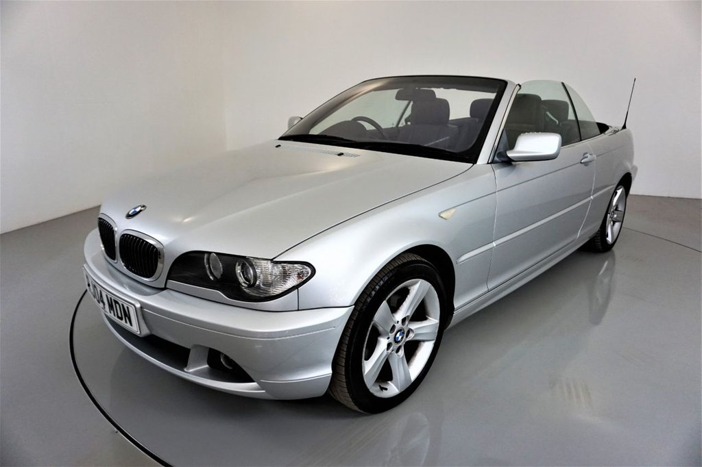USED 2004 04 BMW 3 SERIES 2.5 325CI SE 2d 190 BHP-TITANIUM SILVER METALLIC-CLIMATE CONTROL-BLACK HEATED EXCLUSIVE NAPPA LEATHER-ELECTRIC FOLDING MIRRORS-ELECTRIC MEMORY SEATS-RARE MANUAL-BMW BUSINESS RADIO-GREAT EXAMPLE OF A MODERN CLASSIC