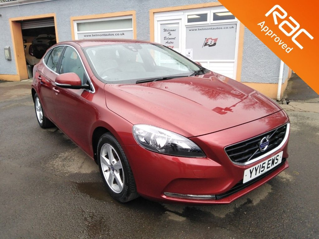 USED 2015 15 VOLVO V40 1.6 T2 SE 5d 118 BHP Parking Sensors, Leather Upholstery, Bluetooth, 6 Main Dealer Service stamps in the book!!