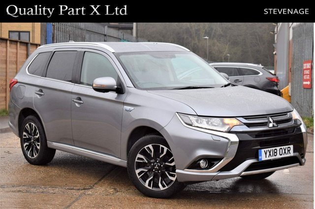 USED 2018 18 MITSUBISHI OUTLANDER 2.0h 12kWh 4h CVT 4WD (s/s) 5dr BLUETOOTH,CAMERA,HEATED,4WD