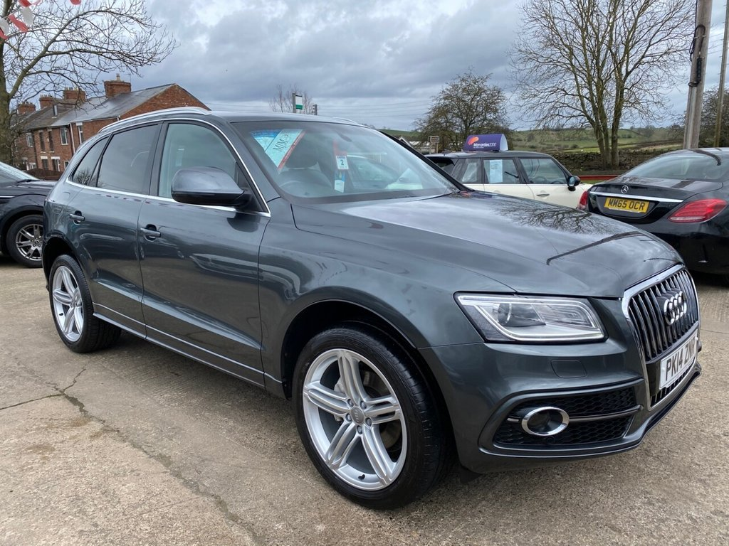 USED 2014 14 AUDI Q5 2.0 TDI S TRONIC QUATTRO S LINE PLUS 5d 175 BHP * 1 OWNER * PAN ROOF * HEATED LEATHER * SAT NAV * 20