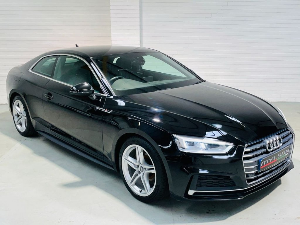 USED 2017 67 AUDI A5 2.0 TFSI S LINE 2d 188 BHP Media + Navigation, Heated Seats, Electric Sports Seats, 1 Owner