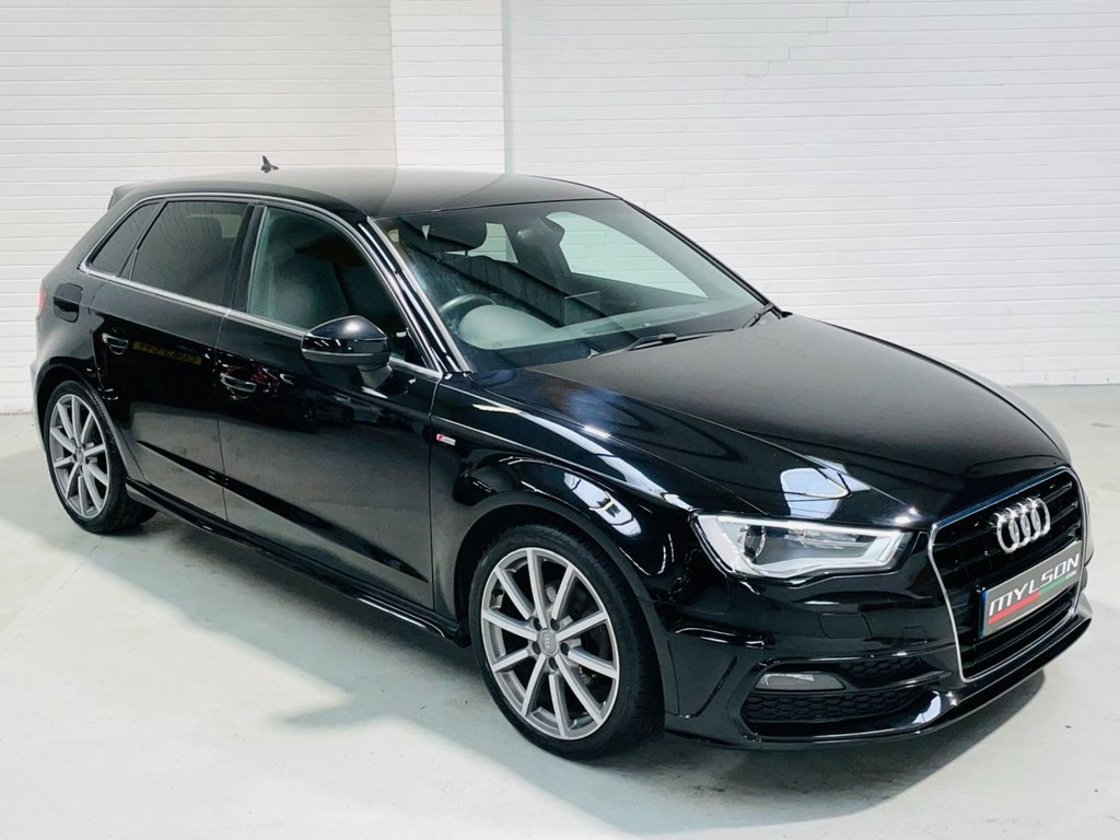 USED 2014 64 AUDI A3 1.6 TDI S LINE 5d 109 BHP Zero Tax, Privacy Glass, Cruise Control, Auto Lights, 10 Spoke Wheels