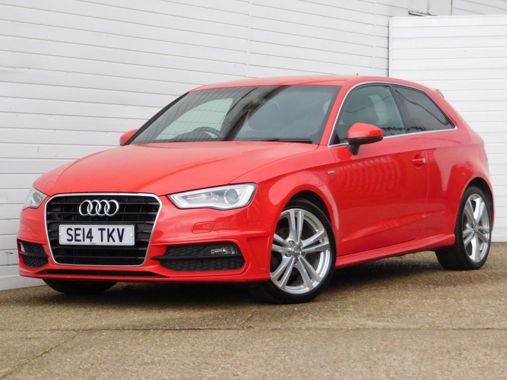 USED 2014 14 AUDI A3 2.0 TDI S LINE 3d 148 BHP Buy Online Moneyback Guarantee