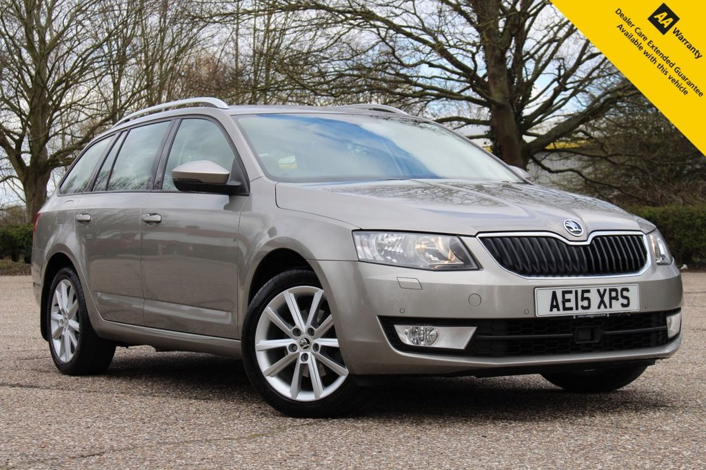 USED 2015 15 SKODA OCTAVIA 1.4 ELEGANCE TSI DSG 5d 139 BHP ** 1 OWNER FROM NEW ** FULL SKODA SERVICE HISTORY ** LONG MOT AND SERVICE UNTIL 2022 ** CAM BELT REPLACED AT 43K JUNE 2020 ** £2195 FACTORY OPTIONS ** SATELLITE NAVIGATION ** FRONT + REAR PARKING AID ** HEATED LEATHER INTERIOR ** CRUISE CONTROL ** DUAL ZONE CLIMATE CONTROL ** ULEZ CHARGE EXEMPT ** 0 DEPOSIT FINANCE AVAILABLE ** CLICK & COLLECT + NATIONWIDE DELIVERY AVAILABLE ** 14 DAY MONEY BACK GUARANTEE **