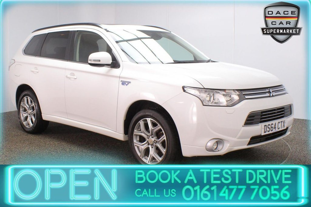 USED 2014 64 MITSUBISHI OUTLANDER 2.0 PHEV GX 4HS 5DR AUTO 162 BHP FULL SERVICE HISTORY + FREE 12 MONTHS ROAD TAX + HEATED LEATHER SEATS + SATELLITE NAVIGATION + ELECTRIC SUNROOF + REVERSING CAMERA + LANE ASSIST SYSTEM + BLUETOOTH + CRUISE CONTROL + CLIMATE CONTROL + MULTI FUNCTION WHEEL + PRIVACY GLASS + XENON HEADLIGHTS + DAB RADIO + ELECTRIC FRONT SEATS + ELECTRIC WINDOWS + ELECTRIC/HEATED/FOLDING DOOR MIRRORS + 18 INCH ALLOY WHEELS