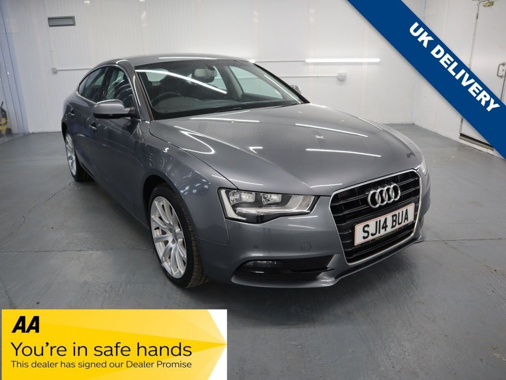 USED 2014 14 AUDI A5 2.0 SPORTBACK TDI SE TECHNIK 5d 134 BHP SPORTBACK IS A 5 DOOR SALLON WITH A HATCHBACK TAILAGTE. THE AUDI A5 HAS EXCELLENT BUILD AND RELIABILITY QUALITIES