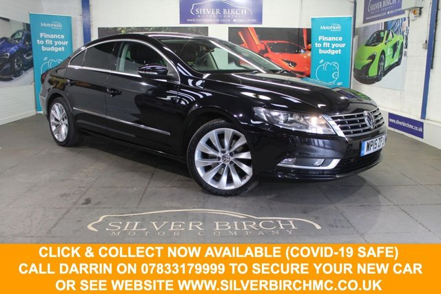 USED 2015 15 VOLKSWAGEN CC 2.0 GT TDI BLUEMOTION TECHNOLOGY 4d 138 BHP Low Deposit Finance Available