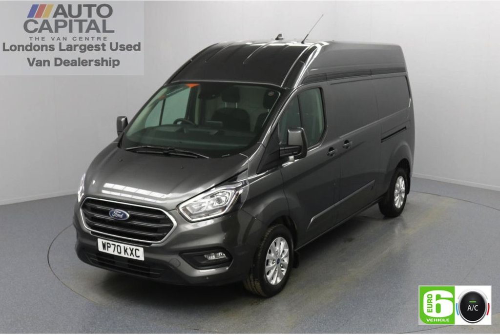 USED 2020 70 FORD TRANSIT CUSTOM 2.0 300 Limited EcoBlue Auto 170 BHP L2 H2 Euro 6 Low Emission Automatic Gearbox | Eco Mode | Auto Start-Stop | Front and rear parking distance sensors