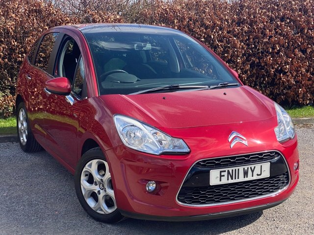 USED 2011 11 CITROEN C3 1.6 HDI EXCLUSIVE 5d LOW MILEAGE, RECENTLY SERVICED, MOT UNTIL MARCH 2022, ELECTRIC FOLDING MIRRORS, PANORAMIC WINDSCREEN