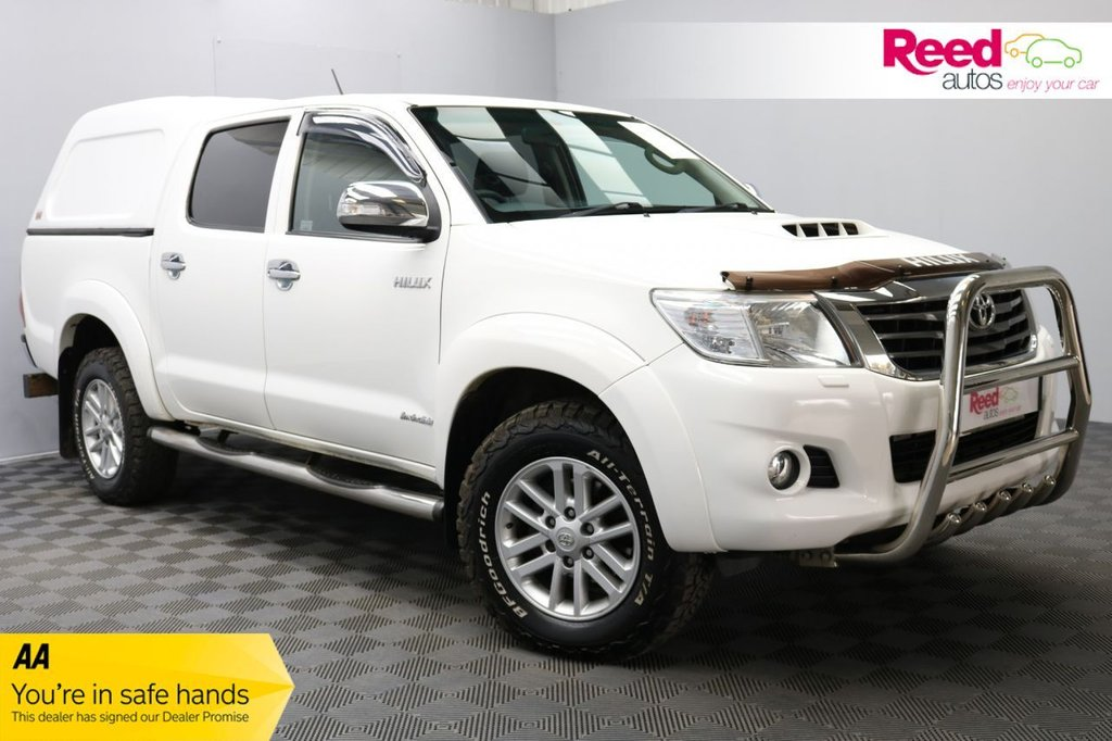USED 2014 14 TOYOTA HI-LUX 3.0 INVINCIBLE 4X4 D-4D DCB 0d AUTO 169 BHP TOW BAR+REVERSE PARKING CAMERA+PICK UP+MULTIPURPOSE MEDIA SCREEN+HEATED MIRRORS