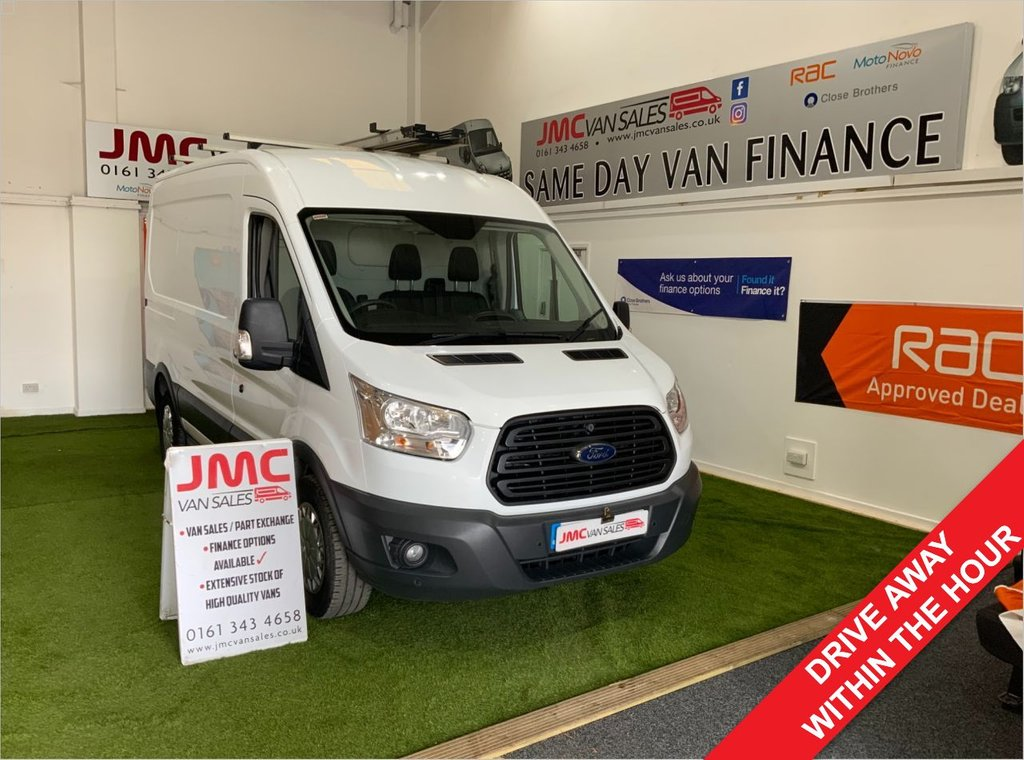 USED 2016 16 FORD TRANSIT 2.2 330 SHR 100BHP 1 OWNER MWB MED ROOF FULL SERVICE HISTORY PX WELCOME CARS OR VANS