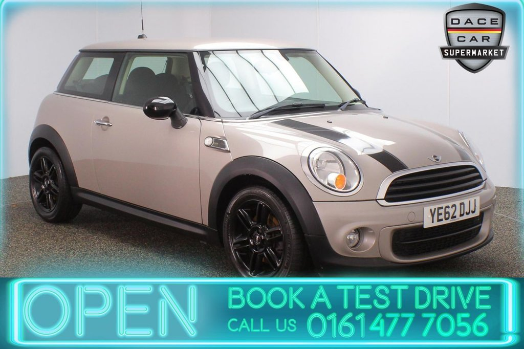 USED 2012 62 MINI HATCH ONE 1.6 ONE D BAKER STREET 3DR 88 BHP FULL MINI SERVICE HISTORY + HALF LEATHER SEATS + BLUETOOTH + CLIMATE CONTROL + DAB RADIO + AUX/USB PORTS + ELECTRIC WINDOWS + ELECTRIC MIRRORS + 16 INCH ALLOY WHEELS