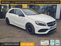 """USED 2018 67 MERCEDES-BENZ A-CLASS 2.1 A 220 D AMG LINE PREMIUM PLUS 5d 174 BHP LED HEADLIGHTS, NIGHT PACK, PRIVACY GLASS, ELECTRIC FRONT SEATS, SAT/NAV, PAN/ROOF, 18"""" AMG ALLOYS.."""