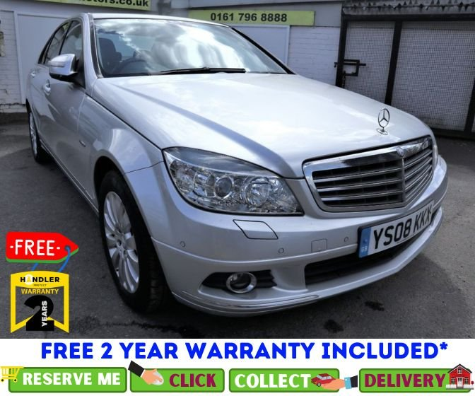 USED 2008 08 MERCEDES-BENZ C-CLASS 2.1 C200 CDI ELEGANCE 4d 135 BHP *CLICK & COLLECT OR DELIVERY *