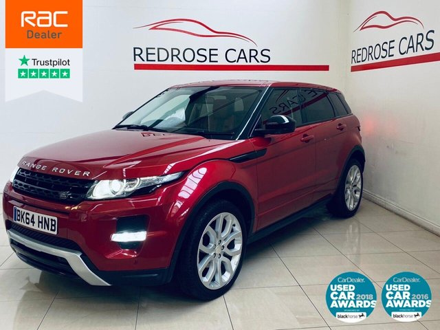 USED 2014 64 LAND ROVER RANGE ROVER EVOQUE 2.2 SD4 DYNAMIC 5d 190 BHP FULL DEALER SERVICE, 2 KEYS