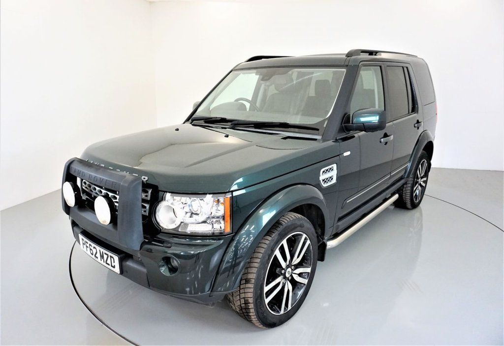 USED 2012 62 LAND ROVER DISCOVERY 4 3.0  SDV6 XS 5d AUTO 255 BHP-CAMBELT COMPLETE-HEATED BLACK LEATHER-CHROME SIDE BARS-7 SEATS-SATNAV
