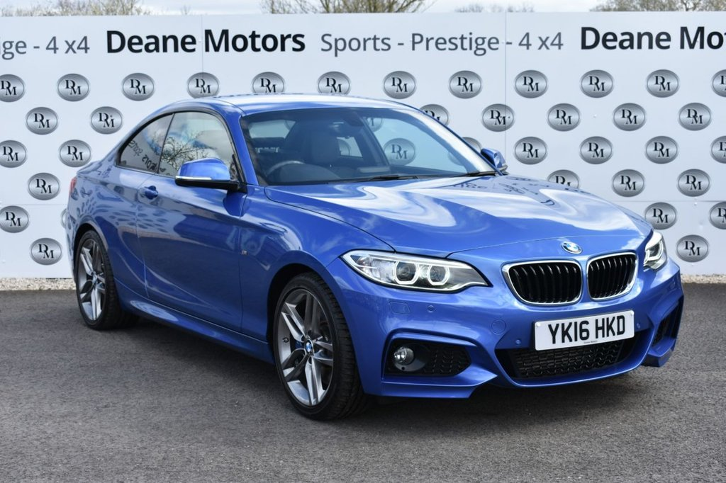 USED 2016 16 BMW 2 SERIES 2.0 220D M SPORT 2d 188 BHP TOP SPECIFICATION