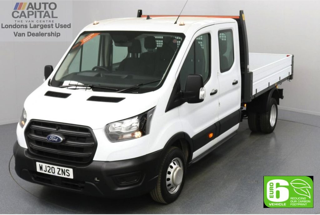 USED 2020 20 FORD TRANSIT 2.0 350 RWD EcoBlue Leader L3 LWB 130 BHP 7 Seats Low Emission Tipper Eco mode   Auto Start-Stop   7 seats   Twin wheels   RWD   Rear tow fitted