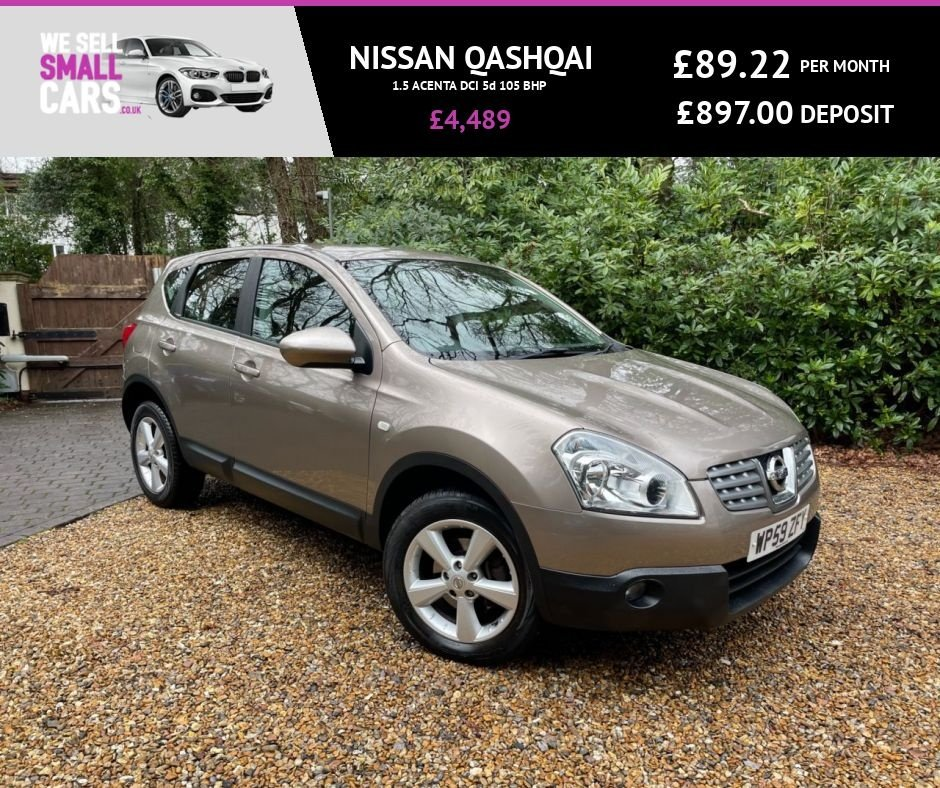 USED 2010 59 NISSAN QASHQAI 1.5 ACENTA DCI 5d 105 BHP 2 OWNERS FULL SERVICE HISTORY FACTORY BLUETOOTH ALLOYS LOW MILES