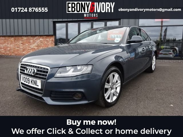 USED 2009 09 AUDI A4 2.0 TDI SE 4d 141 BHP EXCELLENT EXAMPLE+FULLY SERVICED+1 YEAR MOT+BREAKDOWN COVER