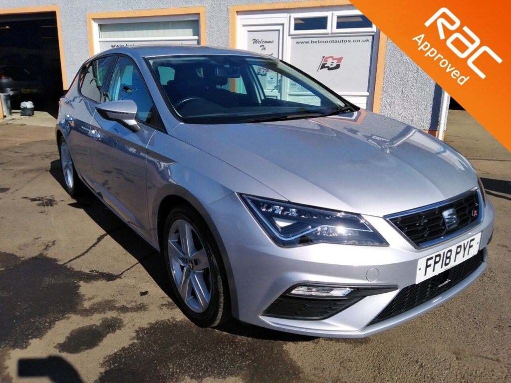 USED 2018 18 SEAT LEON 1.4 TSI FR TECHNOLOGY 5d 148 BHP Low Mileage, Contrast Grey, Red Stitching Upholstery, Sat Nav, Android Auto, Apple Car Play, Mirror Link
