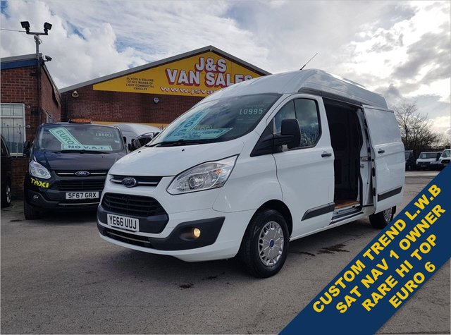 USED 2016 66 FORD TRANSIT CUSTOM 2.0 290 TREND L.W.B HI ROOF EURO 6 1 OWNER  NAV  BIG STOCK EURO 6 OVER VANS OVER 100 ON SITE
