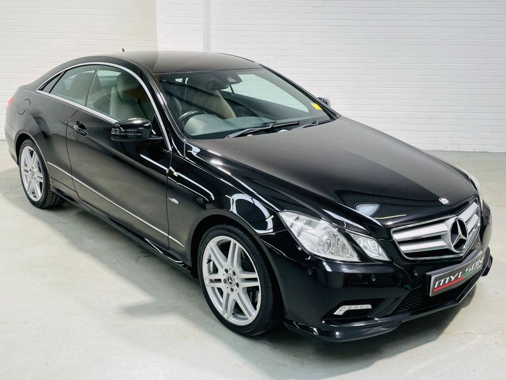 USED 2011 11 MERCEDES-BENZ E-CLASS 2.1 E250 CDI BLUEEFFICIENCY SPORT 2d 204 BHP AMG Pack, Black with Tan Leather Interior, Heated Seats