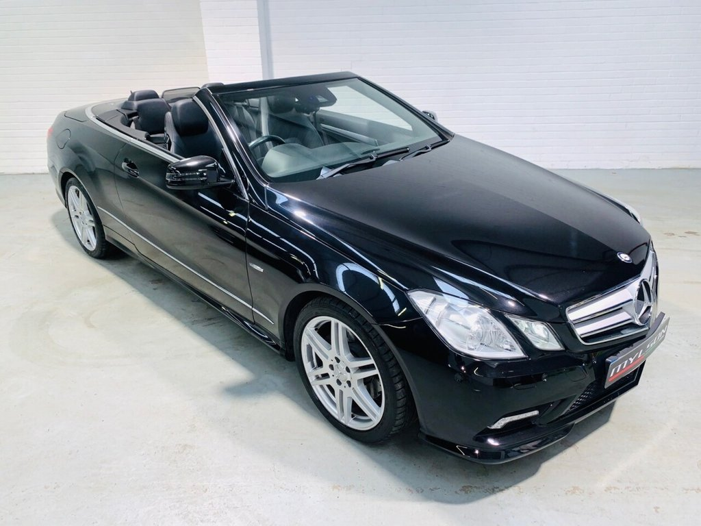 USED 2011 61 MERCEDES-BENZ E-CLASS 2.1 E220 CDI BLUEEFFICIENCY SPORT 2d 170 BHP AMG Pack, Black Leather Trim with Airscarf, Ultra Low Mileage, AA Inspected