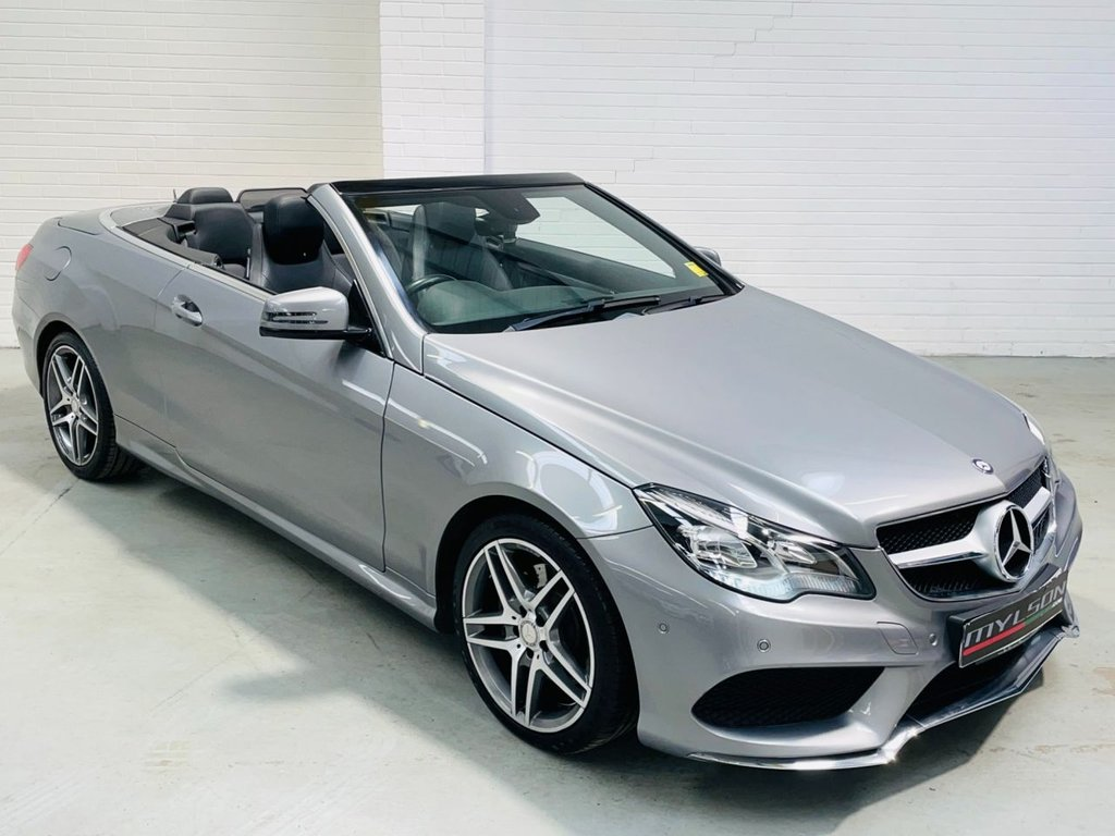 USED 2014 14 MERCEDES-BENZ E-CLASS 2.1 E250 CDI AMG SPORT 2d 204 BHP Low Mileage E250 Convertible, AMG Line Spec, Black Leather Interior
