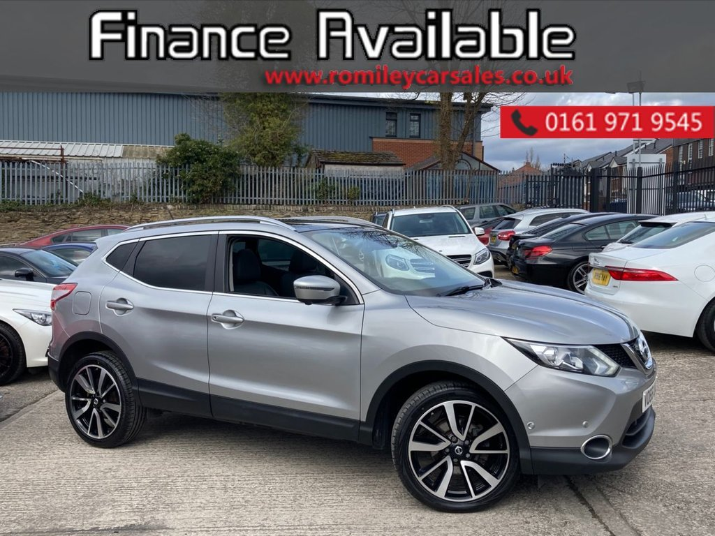 """USED 2016 66 NISSAN QASHQAI 1.6 DCI TEKNA XTRONIC 5d 128 BHP FULL SERVICE RECORD - GLASS ROOF - 360 CAMERAS - HEATED LEATHER - NAV - 18"""" ALLOYS"""