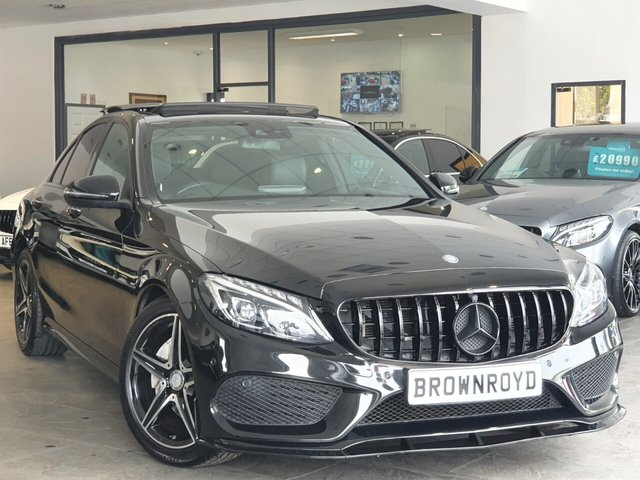 USED 2017 17 MERCEDES-BENZ C-CLASS 2.1 C 220 D AMG LINE PREMIUM PLUS 4d 170 BHP BRM BODY STYLING+PAN ROOF