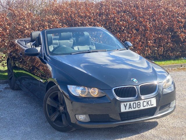 USED 2008 08 BMW 3 SERIES 2.0 320D SE 2d 174 BHP * CONVERTIBLE ROOF * LEATHER SPORT SEATS *