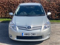 USED 2012 61 TOYOTA AURIS 1.6 TR VALVEMATIC  5d 132 BHP * 2 OWNERS FROM NEW * 12 MONTHS FREE AA MEMBERSHIP *