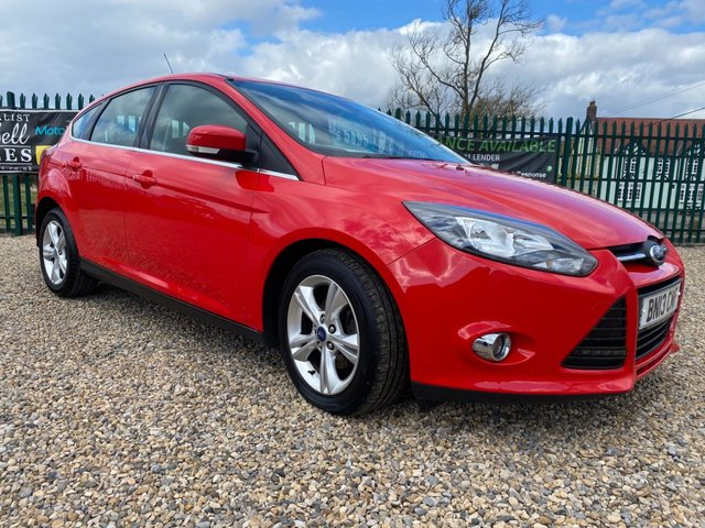 USED 2013 13 FORD FOCUS 1.6 TDCI  ZETEC ECONETIC RED 62000 MILES
