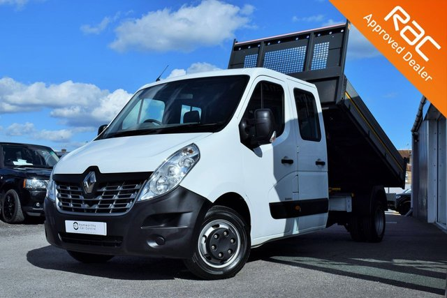 2016 16 RENAULT MASTER 2.3 LL35 BUSINESS DCI L/R D/CAB TIPPER DRW 125 BHP 7 SEATER