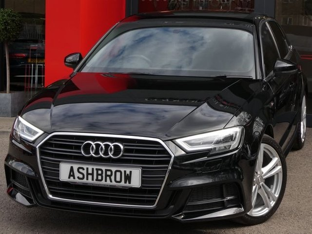 USED 2020 69 AUDI A3 SPORTBACK 1.0 TFSI S LINE 5d 115 S/S BALANCE OF AUDI WARRANTY, FULL SERVICE HISTORY, SAT NAV, AUDI SMARTPHONE FOR APPLE CARPLAY / ANDROID AUTO, REAR PARKING SENSORS, TINTED WINDOWS, AUTO HOLD, FACTORY FIT SUBWOOFER, BLACK 1/2 LEATHER INTERIOR, DAB RADIO, BLUETOOTH PHONE & MUSIC STREAMING, CRUISE CONTROL, LED LIGHTS WITH DAYTIME RUNNING LIGHTS & REAR DIRECTIONAL SWEEPING INDICATORS, AUDI DRIVE SELECT, MANUAL 6 SPEED, LEATHER FLAT BOTTOM MFSW, 18 INCH ALLOYS, ILLUMINATING VANITY MIRRORS, AUTO LIGHTS & WIPERS, CLIMATE CONTROL, VAT Q