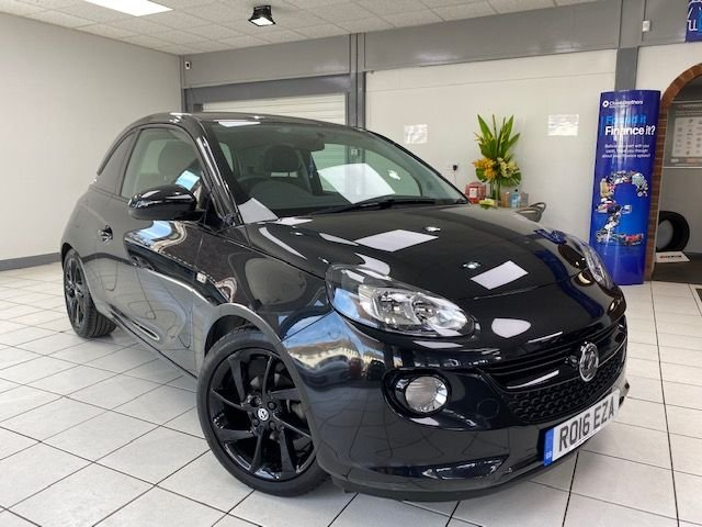 "USED 2016 16 VAUXHALL ADAM 1.2 ENERGISED 3d 69 BHP CARBON FLASH METALLIC / BLACK TRIM / 17"" BLACK ALLOYS  / ONLY 3950 MILES FROM NEW"