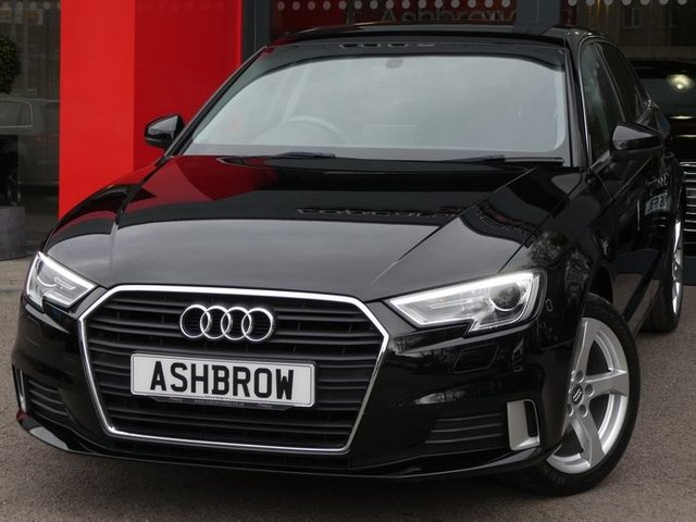 USED 2017 67 AUDI A3 SPORTBACK 1.0 TFSI SPORT 5d 115 S/S 1 OWNER FROM NEW, FULL SERVICE HISTORY, SAT NAV, AUDI SMART PHONE INTERFACE FOR APPLE CAR PAY / ANDROID AUTO, REAR ACOUSTIC PARKING SENSORS, BI-XENON HEADLIGHTS, CRUISE CONTROL, DAB RADIO, BLUETOOTH, AUX & USB, MANUAL 6 SPEED GEARBOX, DUAL CLIMATE AIR CONDITIONING, SPORT SEATS, LEATHER MULTIFUNCTION STEERING WHEEL, AUTO LIGHTS & WIPERS, AUDI DRIVE SELECT, DIS TRIP COMPUTER WITH DIGITAL SPEED DISPLAY, TYRE PRESSURE MONITORING SYSTEM, CD PLAYER, ELECTRIC WINDOWS x4, ELECTRIC HEATED MIRRORS, VAT Q
