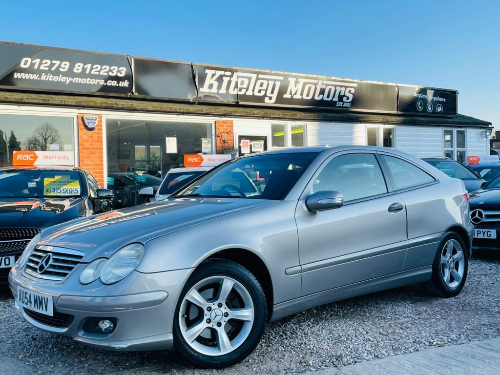 USED 2005 54 MERCEDES-BENZ C-CLASS 1.8 C180 KOMPRESSOR SE SPORTS 3d 141 BHP