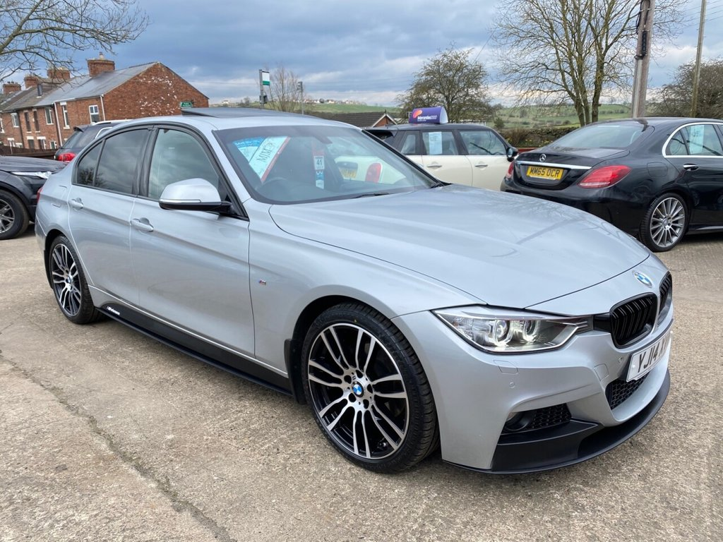 USED 2014 14 BMW 3 SERIES 2.0 320D M SPORT 4d 181 BHP * FULL LEATHER * HEATED SEATS * SUN ROOF * 19