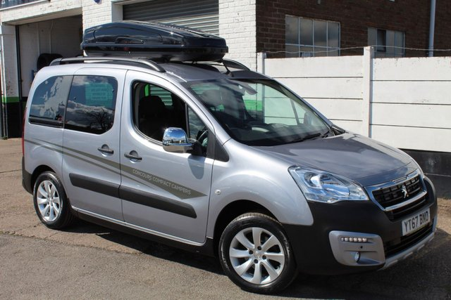 USED 2017 67 PEUGEOT PARTNER 1.2 PURETECH S/S TEPEE OUTDOOR 5d 110 BHP 2 BERTH COMPACT CAMPER VIEW AND RESERVE ONLINE OR CALL 01527-853940 FOR MORE INFO.