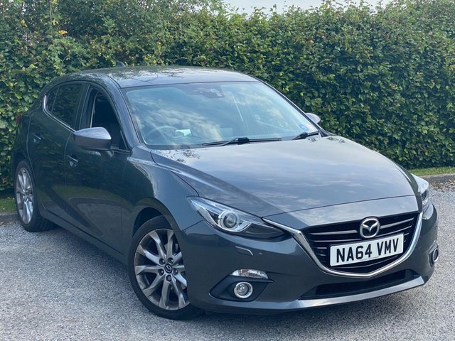 USED 2014 64 MAZDA 3 2.0 SPORT NAV 5d 118 BHP * 2 OWNERS FROM NEW * LOW MILEAGE CAR * 12 MOMTHS FREE AA MEMBERSHIP *