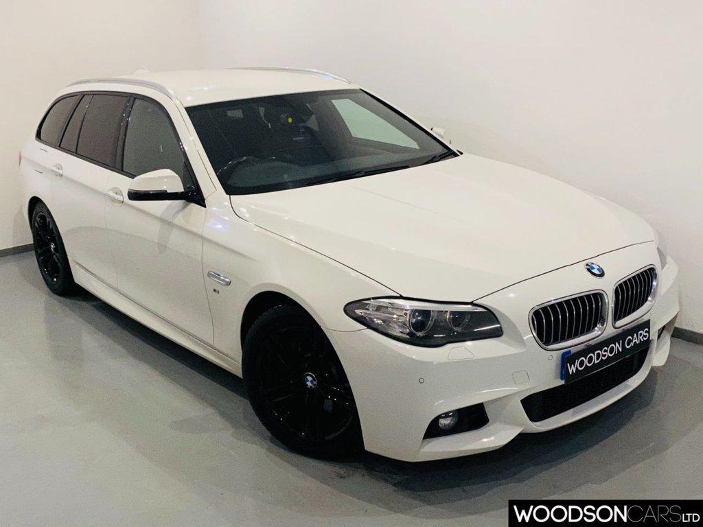 USED 2014 14 BMW 5 SERIES 2.0 525D M SPORT TOURING 5d 215 BHP Sat Nav / Leather / Bluetooth / Isofix / DAB Radio