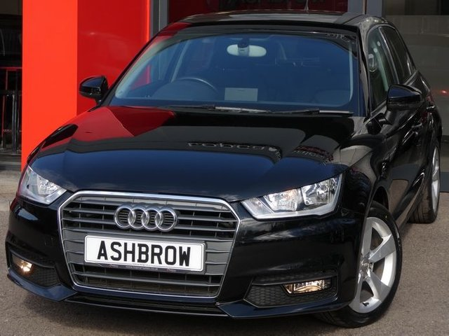USED 2017 67 AUDI A1 SPORTBACK 1.0 TFSI SPORT 5d 95 S/S UPGRADE RAIN & LIGHT SENSORS, DAB RADIO, BLUETOOTH PHONE & MUSIC STREAMING, AUDI MUSIC INTERFACE (AMI), MANUAL 5 SPEED GEARBOX, START STOP TECHNOLOGY, 16 INCH 5 SPOKE ALLOYS, FRONT FOG LIGHTS, GREY TORNADO CLOTH INTERIOR, SPORT SEATS, LEATHER MULTIFUNCTION STEERING WHEEL, AIR CONDITIONING, CD & SD CARD READER, TYRE PRESSURE MONITORING SYSTEM, ELECTRIC WINDOWS, ELECTRIC HEATED DOOR MIRRORS, ISO FIX, FOLDING REAR SEATS, AIRBAGS WITH PASSENGER OFF FUNCTION. SERVICE HISTORY, VAT QUALIFYING