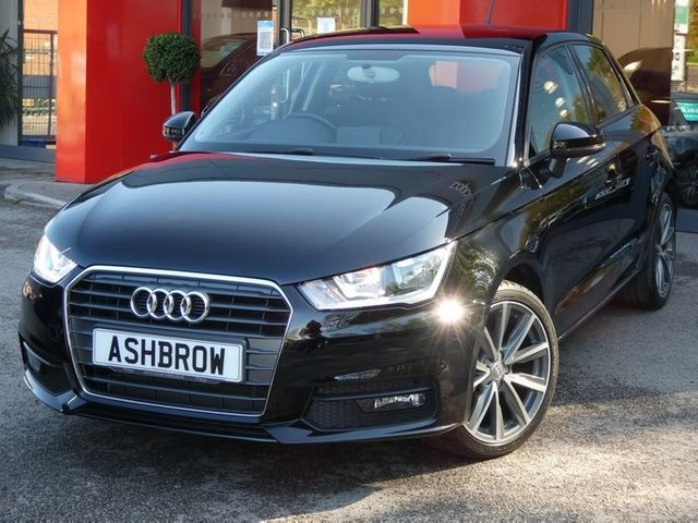 USED 2017 17 AUDI A1 SPORTBACK 1.0 TFSI SPORT 5d 95 S/S UPGRADE 17 INCH 5 V SPOKE BI-COLOUR ALLOY WHEELS, DAB RADIO, BLUETOOTH PHONE & MUSIC STREAMING, AUDI MUSIC INTERFACE (AMI), REAR PARKING SENSORS, FRONT FOG LIGHTS, GREY TORNADO CLOTH INTERIOR, SPORT SEATS, LEATHER MULTIFUNCTION STEERING WHEEL, AIR CONDITIONING, CD & SD CARD READER, TYRE PRESSURE MONITORING SYSTEM, ELECTRIC WINDOWS, ELECTRIC HEATED DOOR MIRRORS, ISO FIX, FOLDING REAR SEATS, AIRBAGS WITH PASSENGER OFF FUNCTION. 1 OWNER FROM NEW, GOOD SERVICE HISTORY, VAT Q