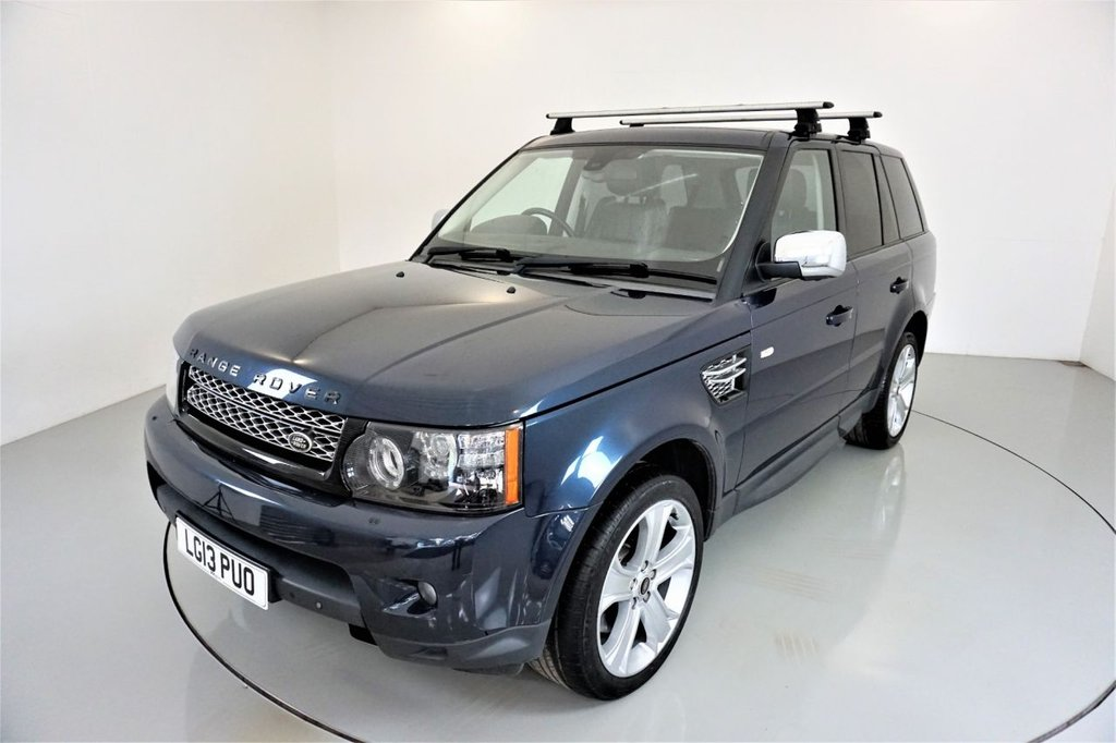 USED 2013 13 LAND ROVER RANGE ROVER SPORT 3.0 SDV6 HSE BLACK 5d AUTO-BALTIC BLUE-LOW MILEAGE EXAMPLE-REAR ENTERTAINMENT-SUNROOF-HEATED EBONY LEATHER-20